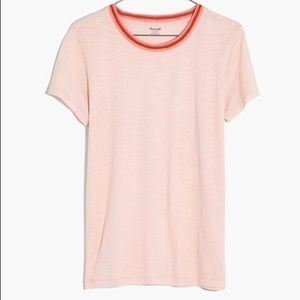 Whisper cotton ringer tee in lucid pink